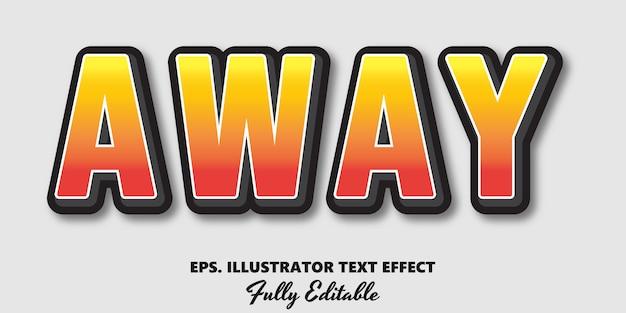 Away editable text effect