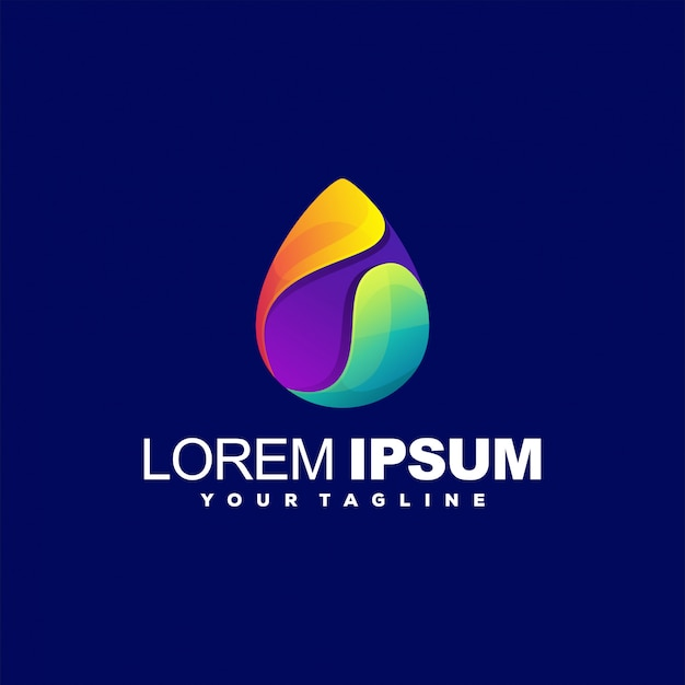 Awesome abstract gradient logo design
