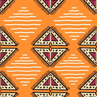 Awesome aztec pattern with hand drawn creative