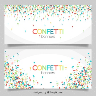Awesome banners of colorful confetti
