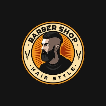 Удивительный логотип парикмахера готов к использованию