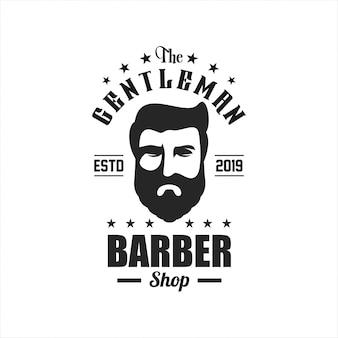 Awesome barber shop logo design