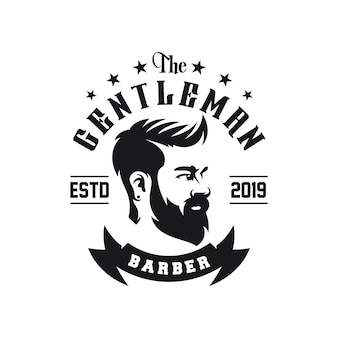 Awesome barbershop logo design vector
