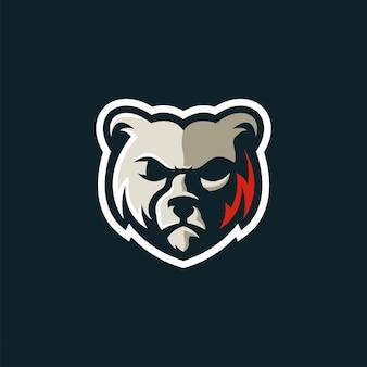 Awesome bear logo design premium