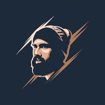 Круто борода мужчина аватар