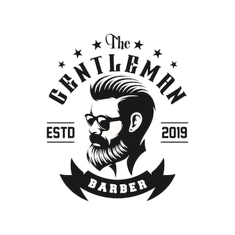 Awesome bearded man logo design