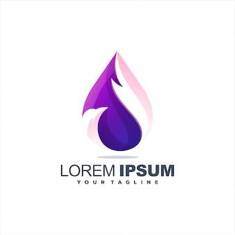 Awesome bird gradient logo design