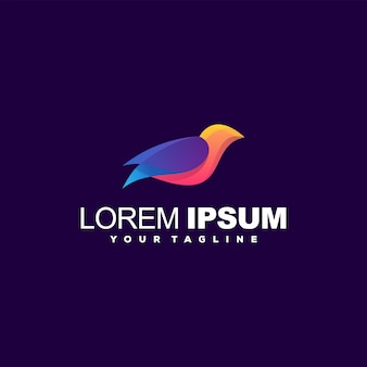 Awesome bird gradient logo design