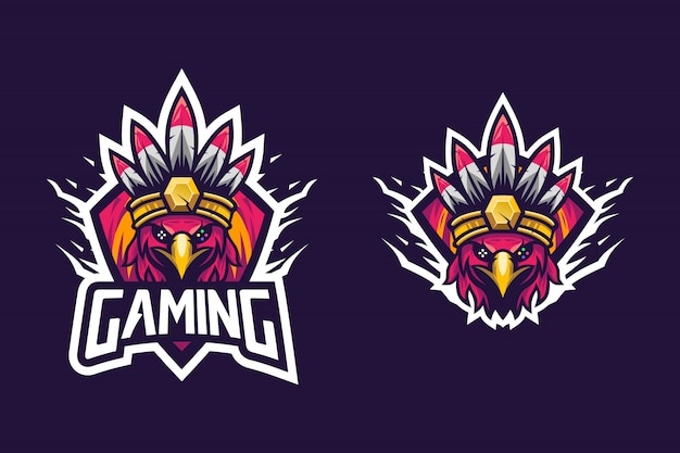 Awesome bird style indian tribe for esports logo