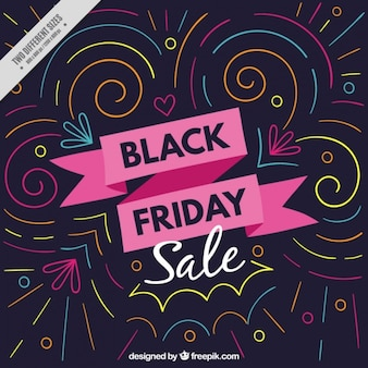 Awesome black friday background with colorful geometric lines
