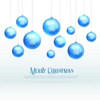 Awesome blue christmas balls design for xmas festival season
