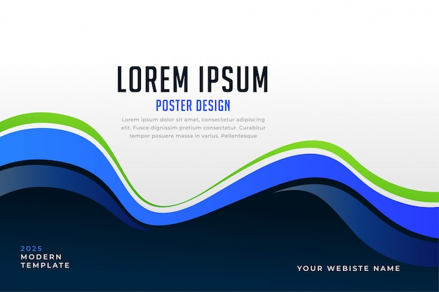 Awesome blue wavy stylish presentation template