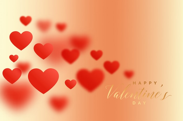 Awesome blur hearts lovely valentines day background