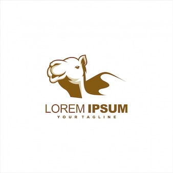 Awesome brown camel logo design