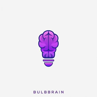 Логотип awesome bulb brain