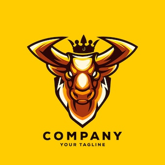 Awesome bull logo vector