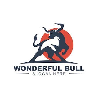 素晴らしい雄牛のロゴ