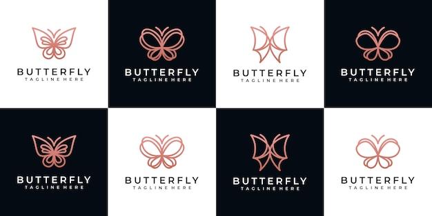 Удивительная коллекция логотипов бабочки