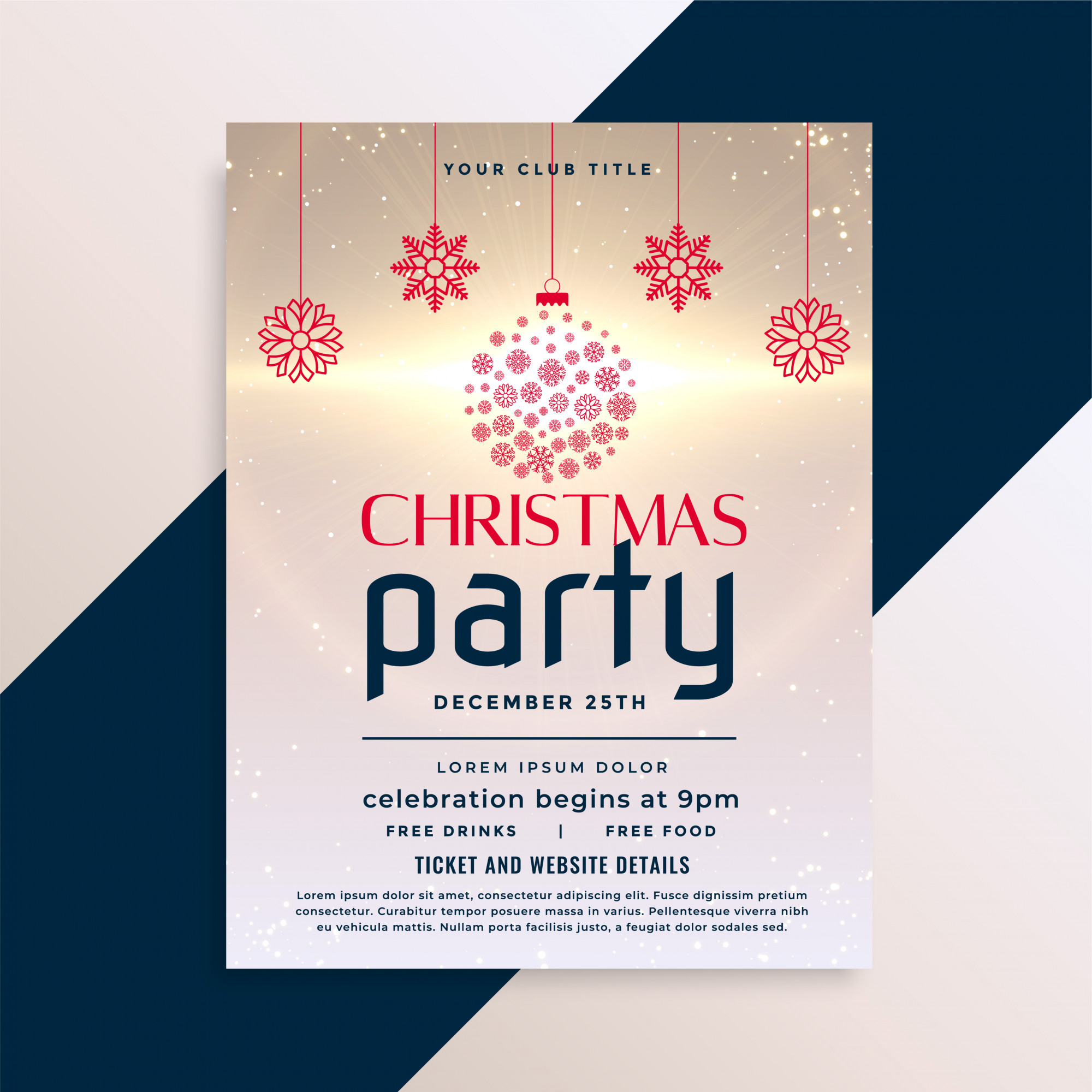 Awesome christmas flyer party design