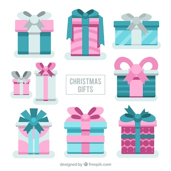 Awesome christmas gifts in pastel colors