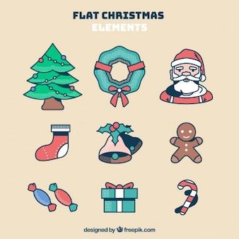 Удивительный набор элементов для рождества