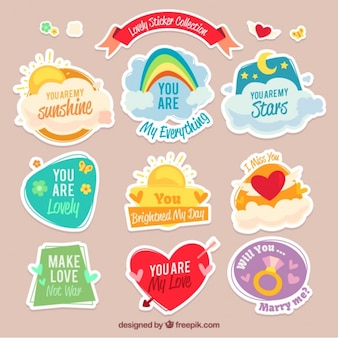 Awesome collection of lovely stickers