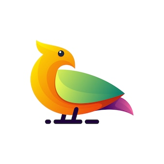 Awesome colorful bird illustration