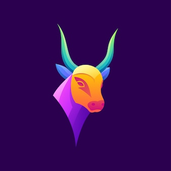 Awesome colorful bull