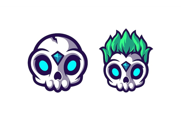Awesome cute skull with two option model