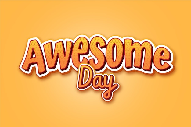 Awesome day text effect