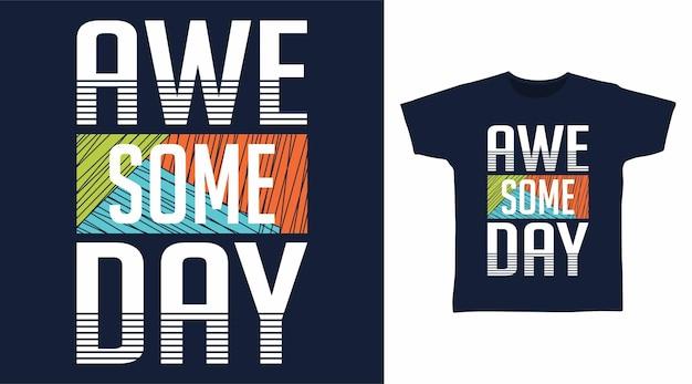 Потрясающие дизайны футболок с дневной типографикой