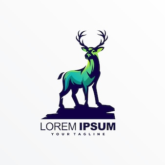 Awesome deer logo design vector