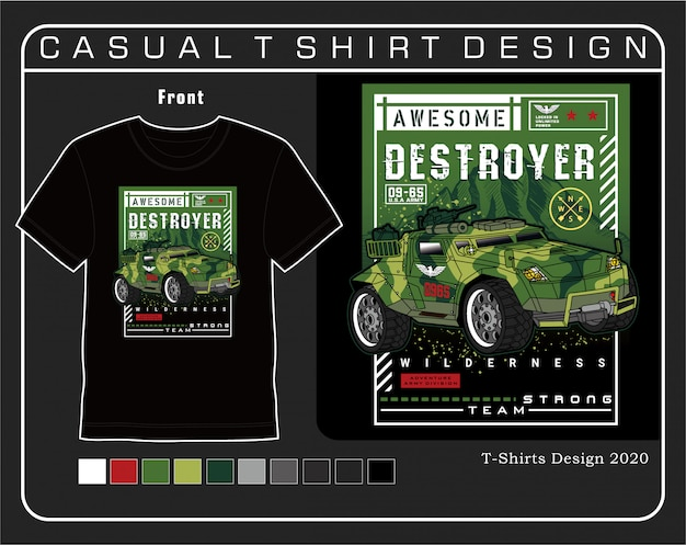 Awesome destroy soldier, vector graphic design illustration for printing