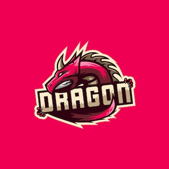 Awesome dragon logo illustration