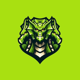Awesome dragon logo sport template