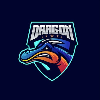 Awesome dragon sport logo