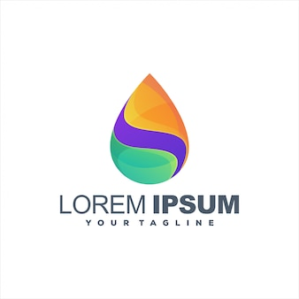 Awesome drop gradient logo design