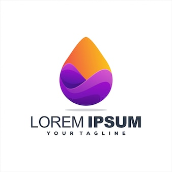 Awesome drop gradient logo