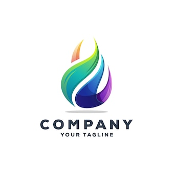 Awesome drop water logo design vector