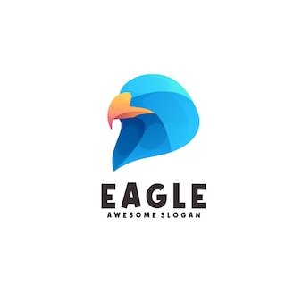 Awesome eagle logo colorful
