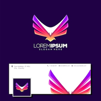 Awesome eagle logo design