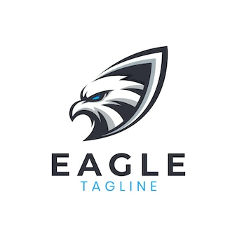 Awesome eagle shield logo template