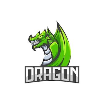 素晴らしいeスポーツドラゴンのロゴ