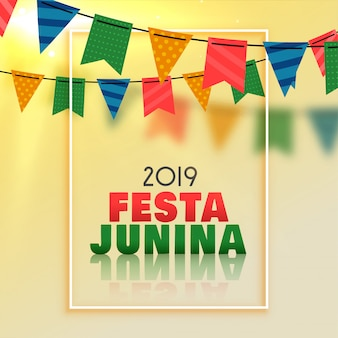 Awesome festa junina celebration background