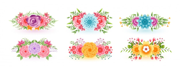 Awesome floral flowers set for decoration purpose
