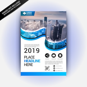 Awesome flyer template with traveling concept
