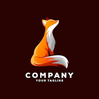 Awesome fox logo vector