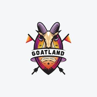 Awesome goat logo badge