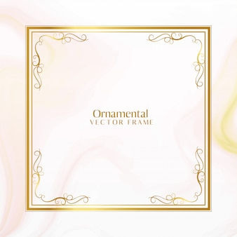 Awesome golden ornamental frame design