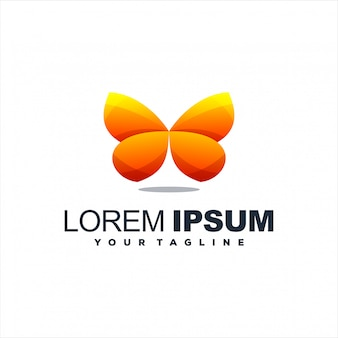 Awesome gradient butterfly logo design